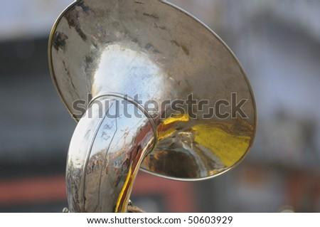 A brass Horn in Haridwar-India.