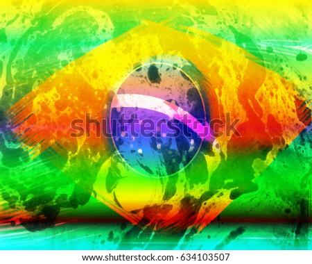 A Brazil flag (rainbow) #634103507