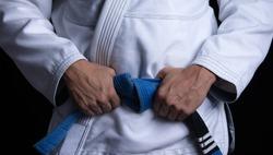 A Brazilian Jiu Jitsu blue belt