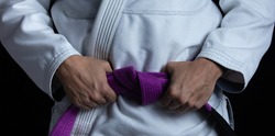 A Brazilian Jiu Jitsu purple belt
