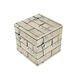 A brick cube for building