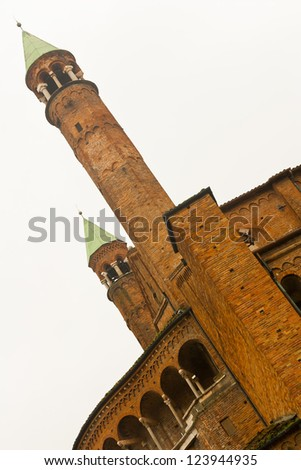 A brick tower of the cathedral