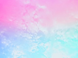 A bright pasted gradient of gentle blue-pink purple with a subtle blend of beautiful natural sky backgrounds with soft white clouds perfectly.