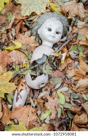 A broken doll in an abandoned kindergarten in the Chernobyl Exclusion Zone, Chornobyl Nuclear Accident