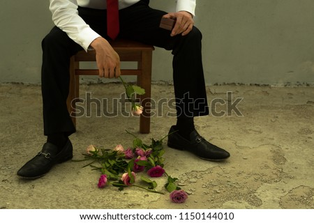 A brokenhearted man rejected on a date. Photo stock ©