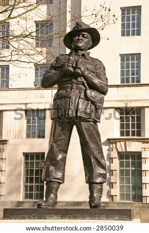 a bronze statue in central London