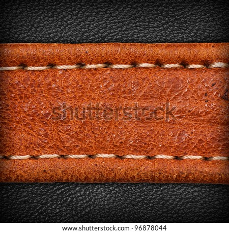 A brown and black leather texture. high resolution.