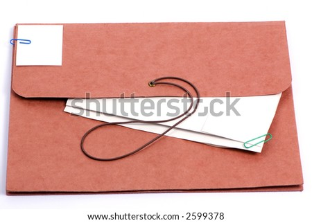 A brown folder for important confidential papers. put your picture here.