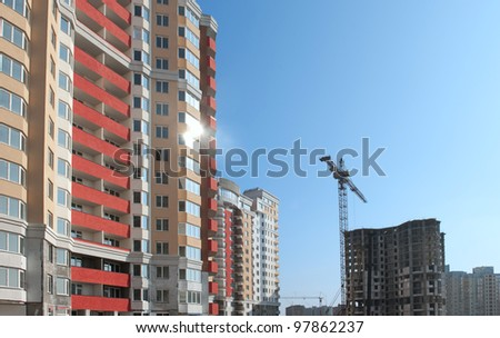 A building site of a new apartments