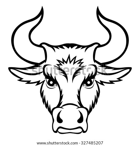 A Bull Head. This Is Illustration Ideal For A Mascot And ...