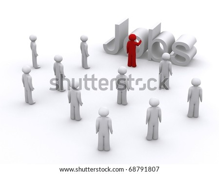 A bunch of 3d people looking for jobs