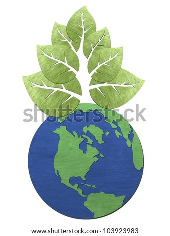 A bunch of leaves form trees to earth