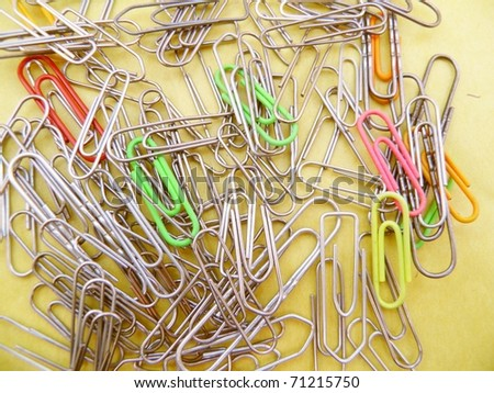 a bunch of paper clips