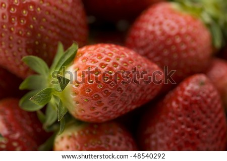 A Bunch of Strawberries with Selective Focus