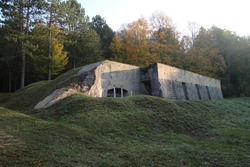 A bunkers in the old ww1 battlefield area of Verdun