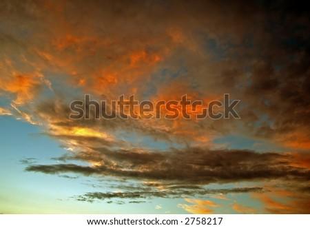 A burning sky