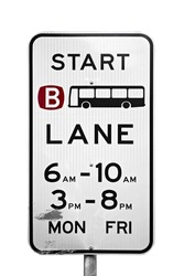 a bus street sign