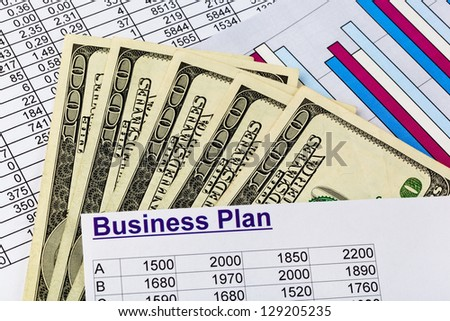 a business plan for starting a business. ideas and strategies for self-employment. dollars and calculator