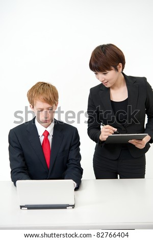 a businesspeople working