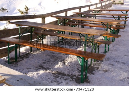 a cafe in the alps