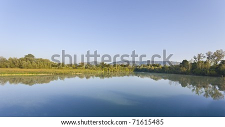 A calm pond in southern germany