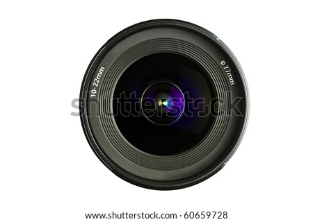 A camera Lens isolated on white background