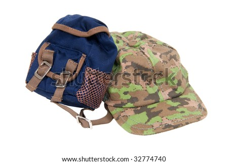 A camouflage baseball hat for everyday wear when you want to blend in with the crowd and a backpack for carrying essentials - path included
