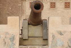 A cannon in Mirbat castle