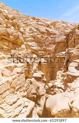 a canyon in the Sinai Peninsula in Egypt