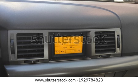 A car interior design with details Stok fotoğraf ©