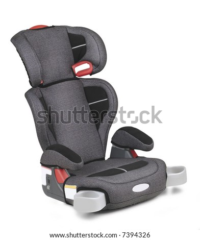 a car seat isolated in white background