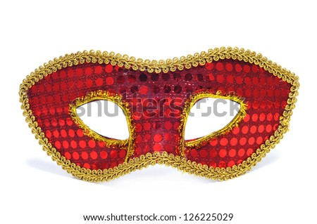 a carnival mask on a white background