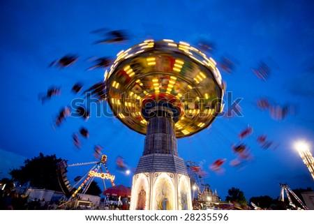 A carnival ride
