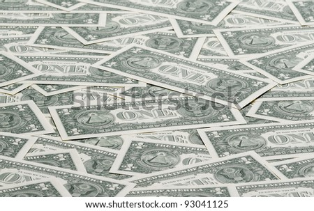 a carpet of american one dollar bills