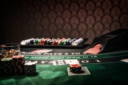 A Casino Black Jack table