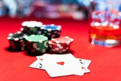 A Casino Black Jack table