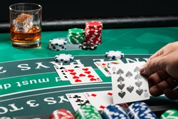 A Casino BlackJack table game