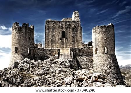 A Castle in the sky - A lady Howk Castle, Rocca Calascio, Aquila - Italy