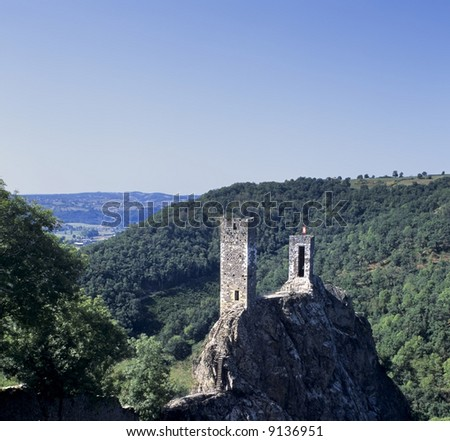 A castle on hill peyrusse le roc lot et garonne france