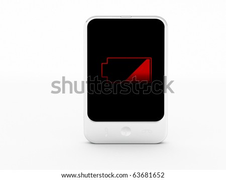 a cellphone on a white background