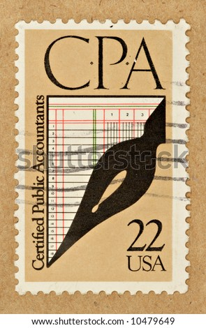 A .22 cent U.S. stamp commemorating CPA's.