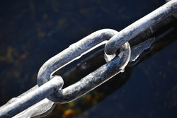 A chain covered with ice