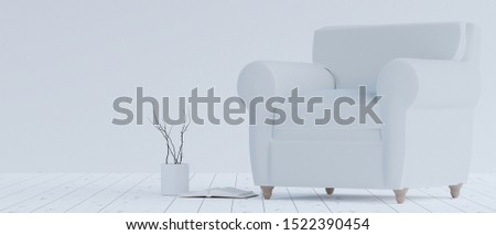 A chair may or may not have armrests; chairs with armrests are termed armchairs.3d rendering