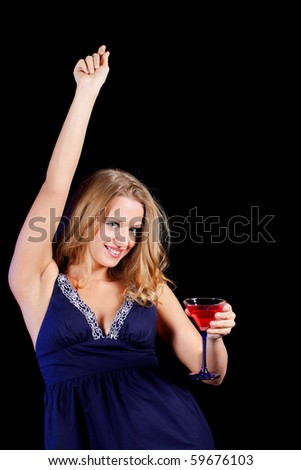 a charming young lady holding a glass of red wine