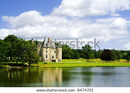 A chateau in the loire valley, France, Europe. - stock photo
