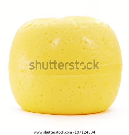 A cheese isolated on a white background