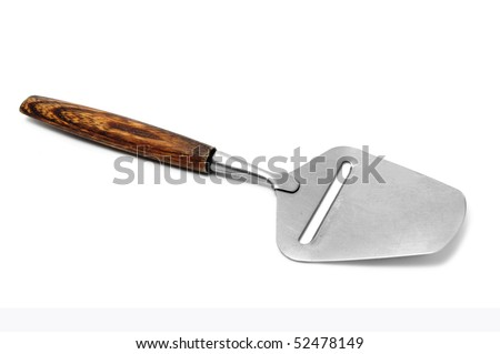 a cheese slicer isolated on a white background