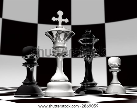 A Chess family - consist of husband, wife and kids