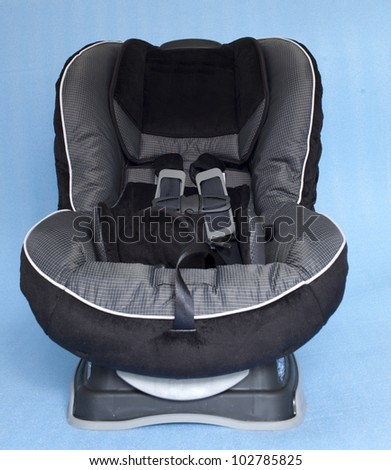 A child's car seat isolated on the clean  background