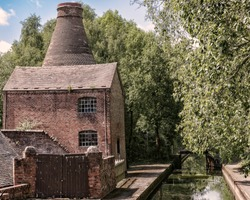 A China Kiln at Coalport on the banks on the River Severn in the Iron Bridge Gorge Uk. Taken on 24/05/2017